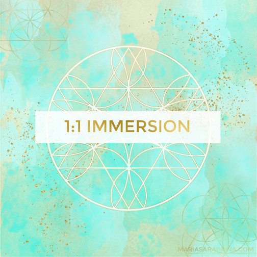 1:1 Immersion, Spiritual Business Coach, EAM® Mentor, Maria Saraphina