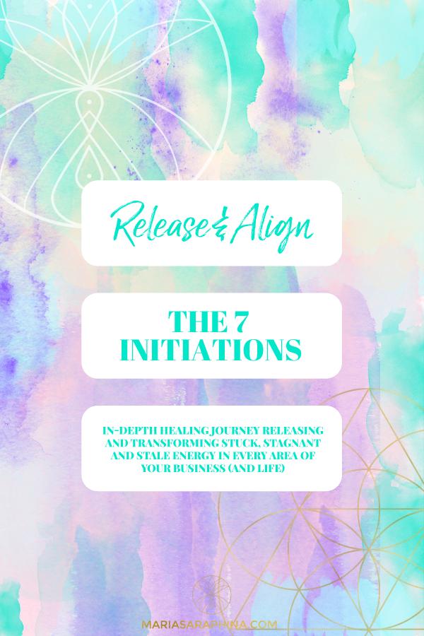 Shop, The 7 Initiations, Spiritual Business Coach, EAM® Mentor, Energy Alignment Method® Mentor, Maria Saraphina